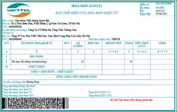Dịch Vụ In hóa đơn điện tử viettel Hồ Chí Minh 3