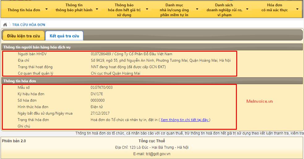 Cách tra cứu hóa đơn điện tử mà viettel hướng dẫn 3